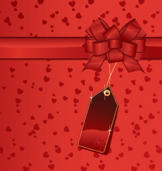 Valentine gift tag vector