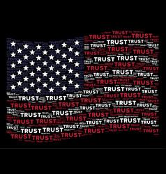 waving united states flag stylization of trust vector image