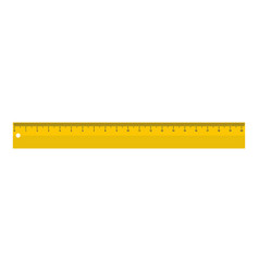 yellow long ruler icon flat style vector image