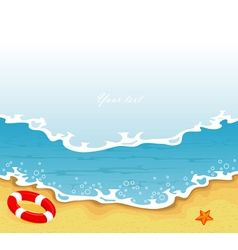 beachside vector image vector image