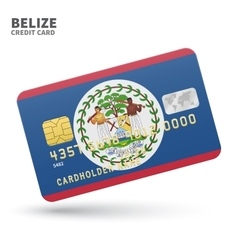 Credit card with belize flag background for bank vector