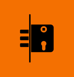 door lock icon vector image