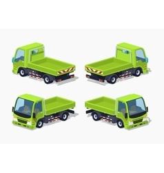Empty green truck vector image vector image