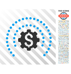 financial industry protection flat icon with bonus vector image vector image