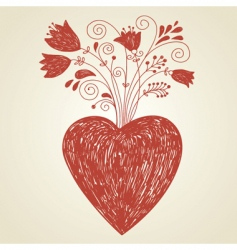 handdraw of heart vector image