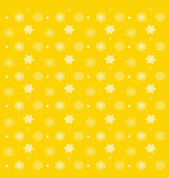 pattern with snowflakes yellow background - vector image vector image