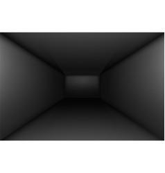 Black empty room interior for design vector