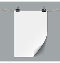 Blank paper sheet vector image vector image