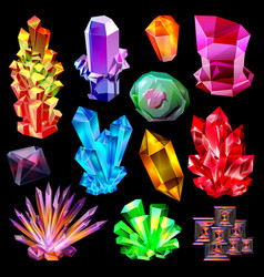 crystal crystalline stone gem and precious vector image