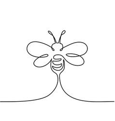 Flying bee logo vector
