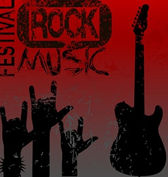 Rock music festival template vector image vector image