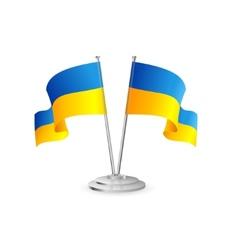 Ukraine table flag isolated vector image