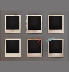 vintage photo frames with vector image