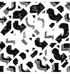 arrows seamless pattern grunge abstract aged vector image vector image