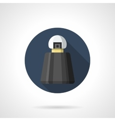 Black bottle of perfumes round flat icon vector image vector image