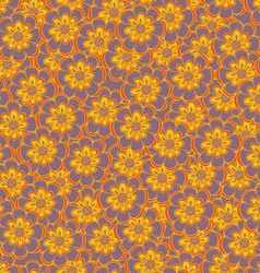 Floral seamless abstract hand-drawn pattern vector image vector image
