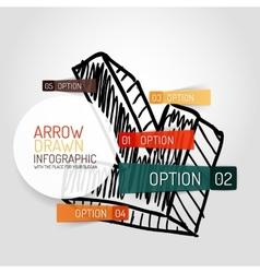 hand drawn arrow design and infographics vector image