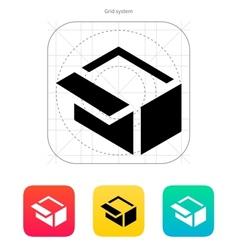 Open box icon vector image vector image