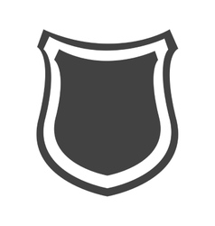 shield protection insignia security design icon vector image