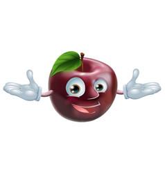 apple mascot vector image