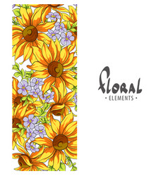 bright sunflowers on a white background vector image