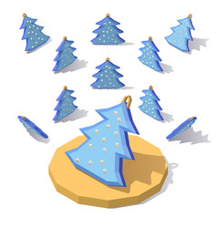 christmas tree in the snow vector image vector image