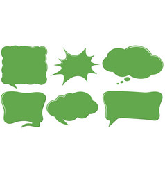 different design of speech bubble templates in vector image