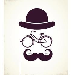 Gentlemen with Bicycle eyeglass vector image