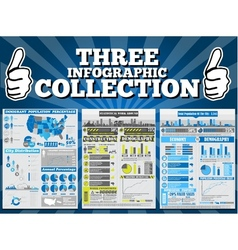 THREE INFOGRAPHIC COLLECTION SPECIAL EDITION vector image vector image