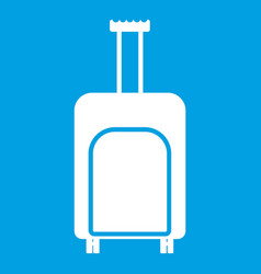 travel suitcase icon white vector image vector image