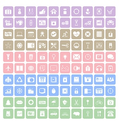 100 Square icon vector image