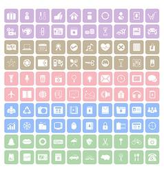 100 Square icon vector