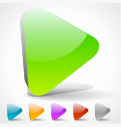 3d play buttons with vivid colors or generic vector