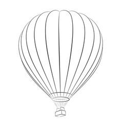 A sketch hot air balloon vector