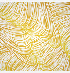 Abstract pattern golden lined art wave gold hair vector