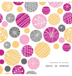 Abstract textured bubbles frame corner pattern vector