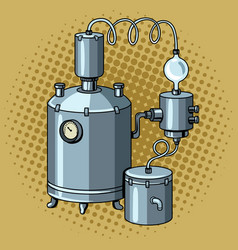 Alcohol mashine pop art vector