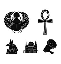 Anubis ankh cairo citadel egyptian beetle vector