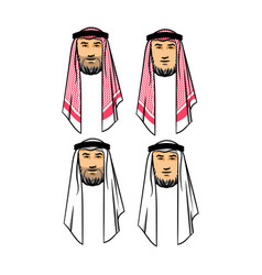 Arabian men head vector