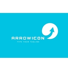 arrow icon logo template vector image