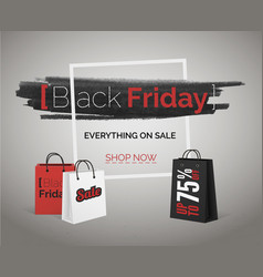black friday sale banner season discount vector image