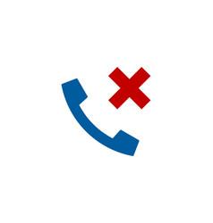 Block call logo icon design vector