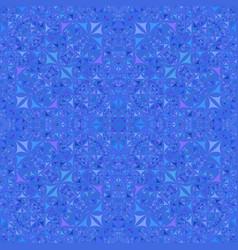Blue seamless kaleidoscope pattern background vector