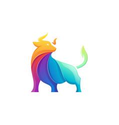 bull logo vector image