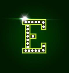 casino and resort letter e luxury letter vector image
