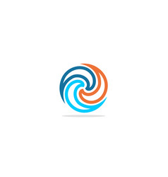 Circle swirl abstract colorful logo vector