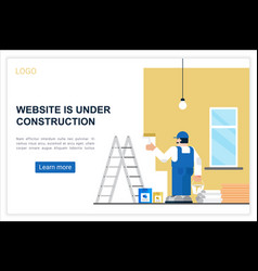 Connection error web landing page template vector