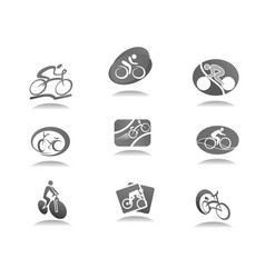 Cycle sport and bicycle icon for bike race design vector
