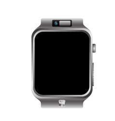 digital wristwatch vector image