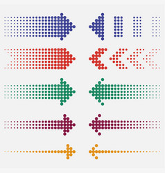dotted arrows vector image